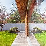 Sichtschutzfolie Hitzeschutz Sonnenschutzfolie Selbstklebende Spiegelfolie Fensterfolie Tönungsfolie Sichtschutz Wärmeisolierung UV-Schutz Silber 45 x 200 - 4