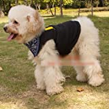 HuntGold Cute Small Pet Dog Clothes Puppy VIP Soft Cotton Clothing T Shirt Vest(Size: M)