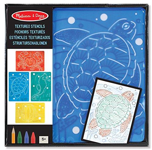 Melissa & Doug Struktur Schablone Insekten Meerestiere Dino Malen Zeichnen: Art: 14589 Meeresbewohner