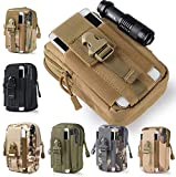 #10: Generic Army Green : Universal Waist Belt Bag Wallet Pouch Outdoor Tactical Holster Military Molle Hip Purse Phone Case with Zipper for iPhone 7 /LG