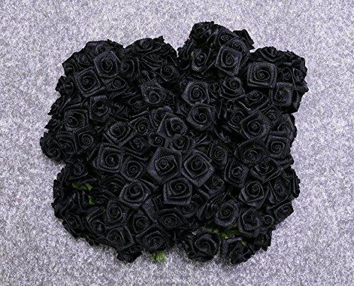 12 Bund = 144 St. Diorröschen Satinröschen Rosen schwarz