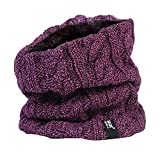 HEAT HOLDERS - Donna Termico Invernale in Pile Scaldacollo - 3.5 tog - Taglia Unica (Purple Neckwarmer)