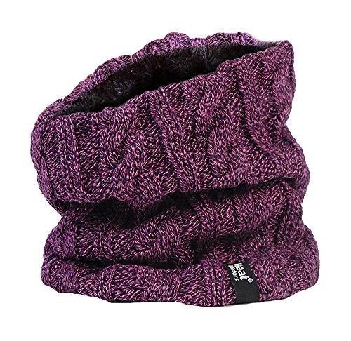 Heat holders - donna termico invernale in pile scaldacollo - 3.5 tog - taglia unica (purple neckwarmer)