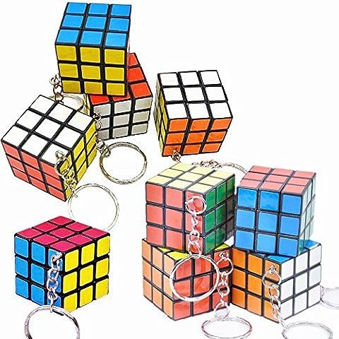 Yocome 12 pièces Mini 3x3 Puzzle Cube Porte-clés - Magic