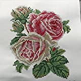Perlenstickerei Komplett Set Rosen 25x19cm 0616-2