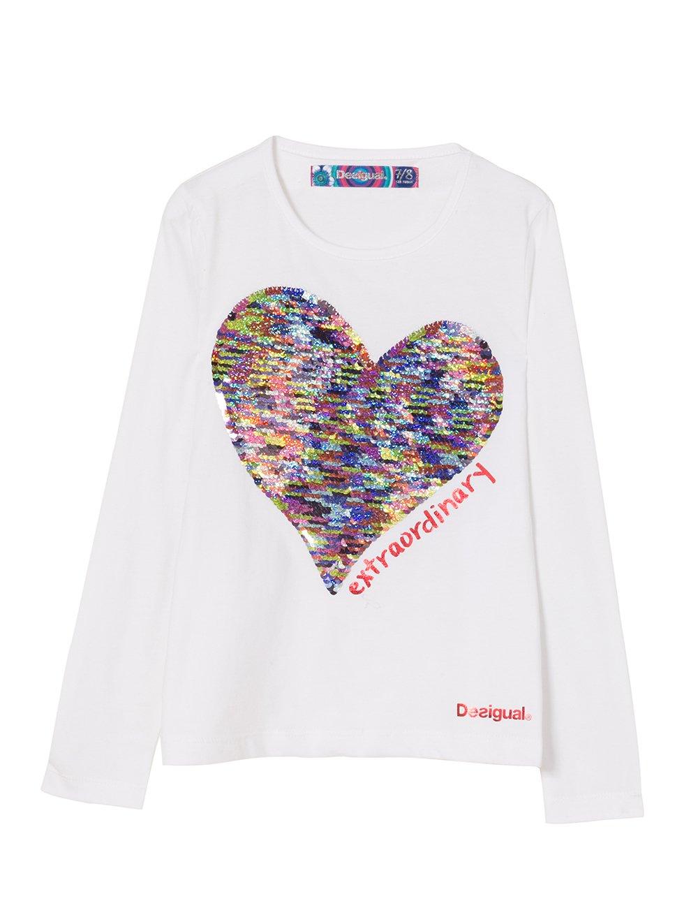 Desigual TS_Vancouver Camisa Manga Larga para Niñas