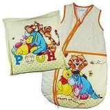Baby Schlafsack Winnie Pooh Babyschlafsack Schlafsack + Kissen Kinderschlafsack Vierjahreszeiten (Creme) Größe: 68-74
