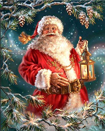 t Kits Malen Nach Zahlen Neu DIY Diamant Malerei Kit für Erwachsene Kinder Kreuzstich Stickerei Kunst Handwerk Wand-Dekor Weihnachten Geschenke (Santa Claus 2) ()
