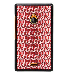 ifasho Designer Phone Back Case Cover Nokia XL ( Pink Heart Pattern Design )