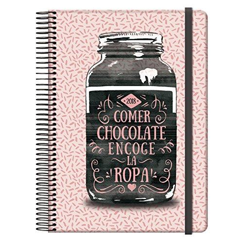 Dohe Funny - Agenda 2018 día página con diseño Cocoa, 15 x 21 cm