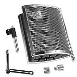 Neewer® Microphone Isolation Acoustique Vocale Pliable avec en Aluminium Léger, Mousses Acoustique, Supports et Vis pour Mic Support avec 5/8\