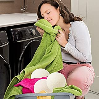Trocknerbälle für Wäschetrockner, Frashing Schafe 6-Pack Premium Wolle Trockner Bälle wiederverwendbare natürliche Weichspüler 6cm Trockner Bälle Trocknerkugeln für Wäschetrockner