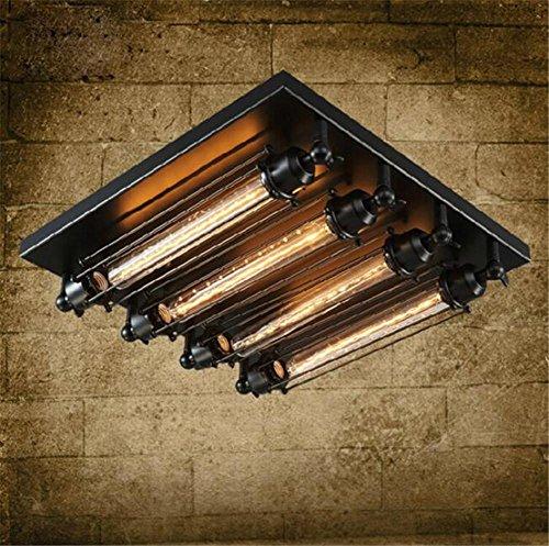 BIUODY Lampada da Soffitto Industriale di stile dell'annata 220V montaggio a filo della luce di soffitto Retro Flauto Ferro battuto Hanging Apparecchio di illuminazione con 4 luci Usa E27