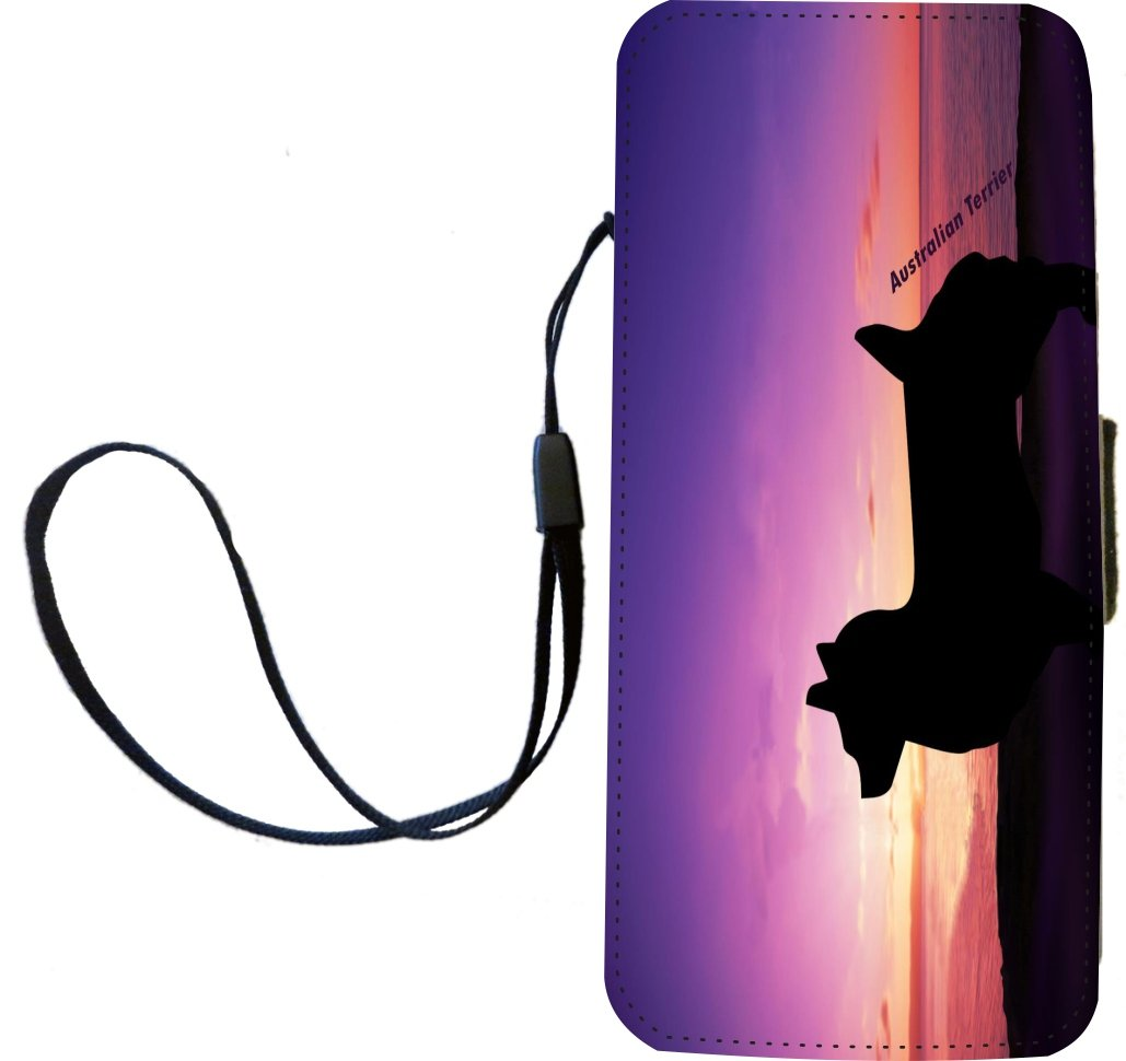 Rikki Knight Australian Terrier Dog At Sunset Flip Wallet iPhoneCase with Magnetic Flap for iPhone 5/5s – Australian…