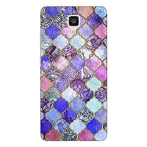 Jugaaduu Purple Moroccan Tiles Pattern Back Cover Case For Xiaomi Mi4