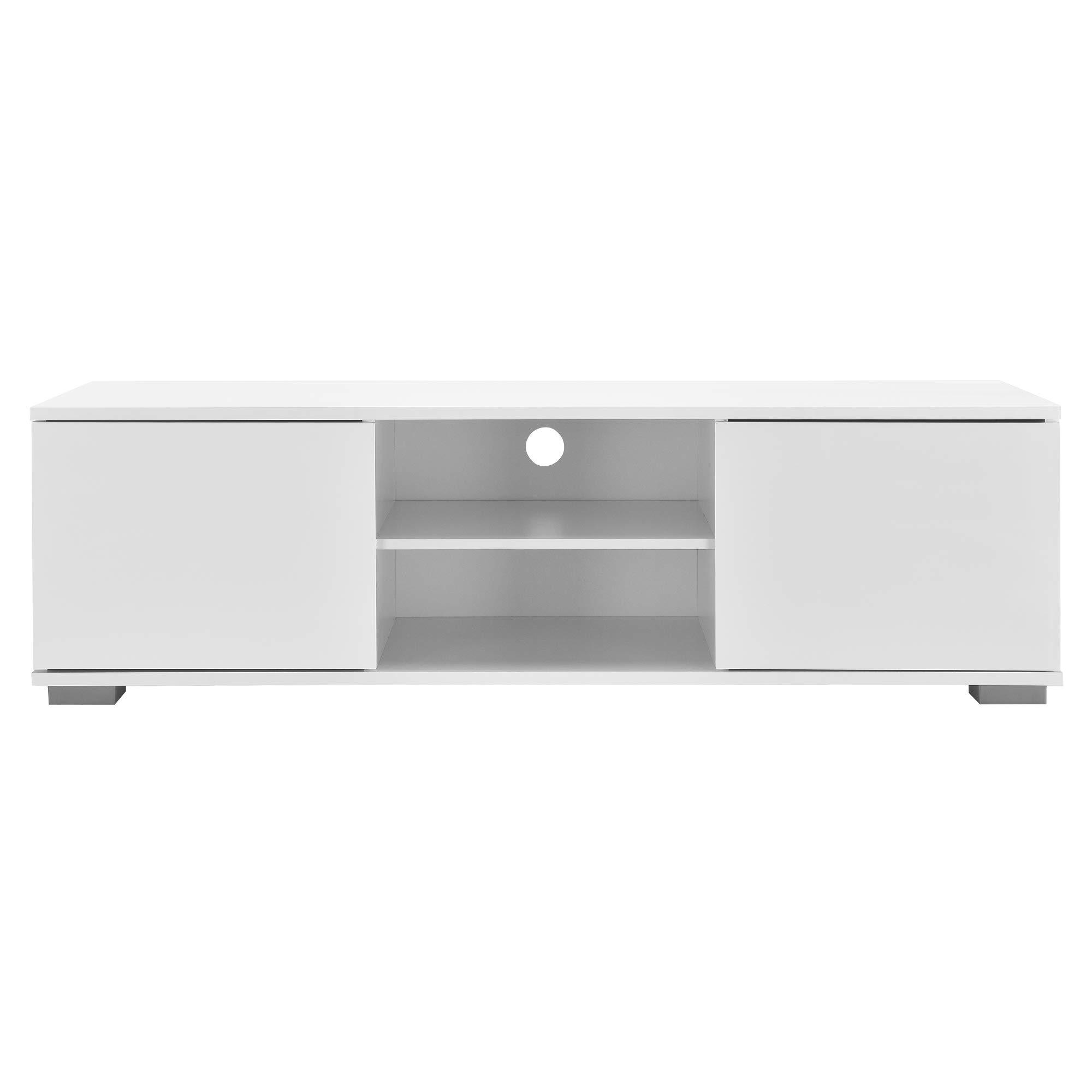 Meuble TV avec Compartiments et Portes Buffets Bas t/él/éviseur Armoire Bas 34,5cm x 120cm x 40cm MDF Noir en.casa