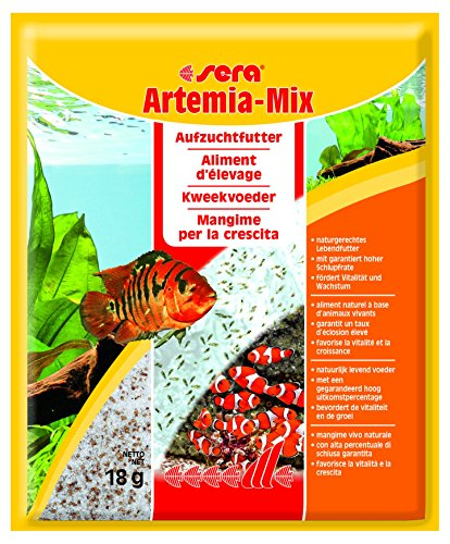 Sera 00724 Artemia-mix 18 g - das lebende Aufzuchtfutter für natürliches Fressverhalten (Schlüpfen Artemia)