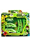Sahoo Ben 10 Printed Alien Force Train Set with Track and Battery Operated Function Toys for Kids