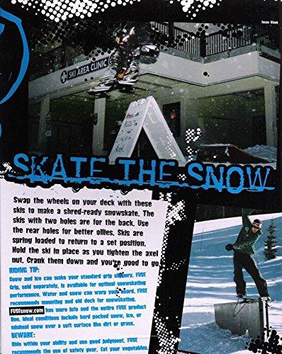 Fuse 4x4 Kufen Kit für Skateboard oder Longboard Snow-Skate Black -