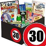 Geschenk zum 30. Geburtstag | Ostalgie Box | DDR Spezialitäten Box mit Brausepulver, Rotkäppchen Sekt, Krügerol Halsbonbon und vielem mehr