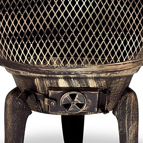 Deuba Cast Iron Chiminea Garden Patio Heater Fire Pit BBQ Grill for Wood Charcaol Chimenea