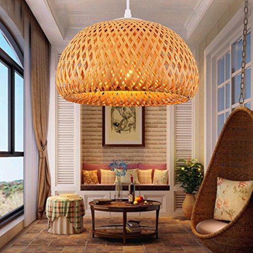 Lustre en bambou créatif en bambou / Restaurant Lampadaire de bar à thé / Asie du Sud-Est Lustre à couloir de couloir de couloir , outer diameter 300* height 180mm
