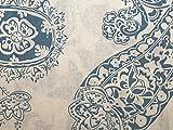 Wedgewood 2012Paisley Print Baumwolle & Leinen Canvas Stoff hellblau–Meterware