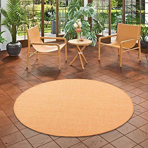 Snapstyle Sisal Natur Teppich Astra Orange Rund in 7 Größen