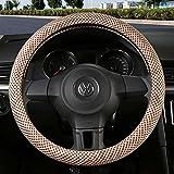 YUAN Coperchio del volante dell'automobile lino di seta del ghiaccio Universale 38CM Protezione antiscivolo traspirante per Auto/Camion / SUV/Van (Colore : B)