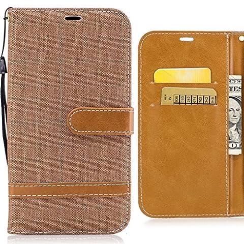 Coque Apple iPhone 5s iPhone SE Cover, Ougger Tissu Denim