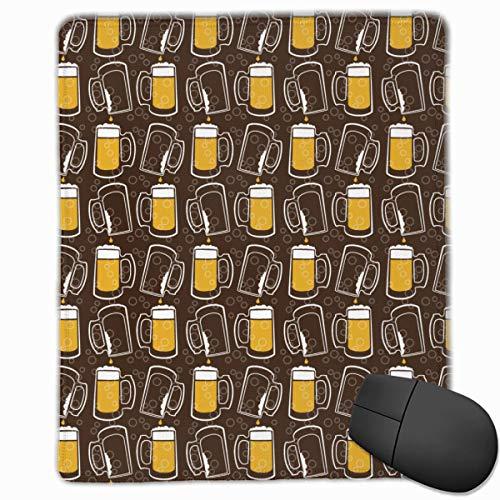 Bier Trinken Cool Qualität Komfortable Game Base Mauspad mit genähten Kanten Größe 11.81 * 9.84 Zoll