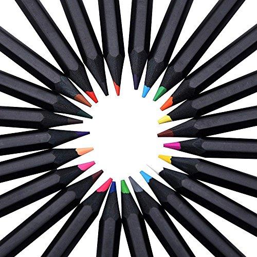 ARVIDSSON schwarz Buntstifte und Farbstifte Set ,mit 24 brillanten Kunstbleistifte mit verschiedene Farben zum Malen ,Ausmalen ,Skizzieren oder Kolorieren. Ein perfektes Geschenk für Hobbykünstler und Kinder zum Zeichen und malen
