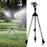 World2home Tripod Impulse Sprinkler Pulsating Telescopic Watering Lawn Yard and Garden