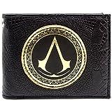 Ubisoft Assassins Creed Gold-Abzeichen Schwarz Portemonnaie Geldbörse