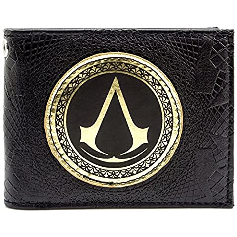 Ubisoft Assassins Creed Syndicate Gold Insignia Black ID & Card Bi-Fold Wallet