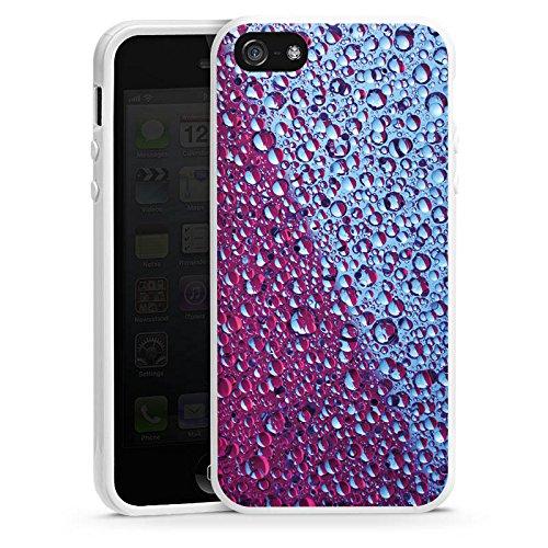 Apple iPhone 4 Housse Étui Silicone Coque Protection Fromage blanc Eau Water Housse en silicone blanc