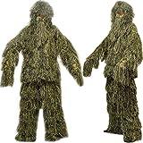 icase4u 3d camuflaje Ghillie ropa de caza camuflaje Gamuza de sombra TACTICLE Ghillie A