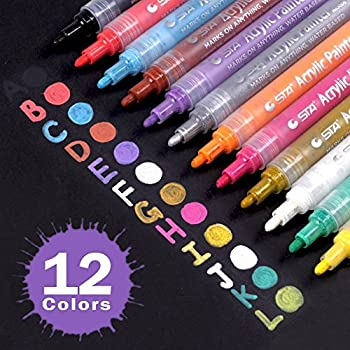 Acrylic paint marker pens medium point tip markers for for Paint pens for wood crafts