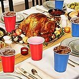 100x Beer Pong Becher Partybecher Set Plastikbecher Rot und Blau 473ml Bier Pong Cups mit Bällen, 16oZ für Getränke Party Camping Cocktail Bier Neues Jahr Weihnachten Geburtstag Festivals Hochzeit - 5