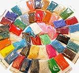 5500 Rocailles 4mm Perlen Set 25 Farben Opak Matt Ceylon Silbereinzug 6/0 500g AM15