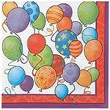 Unique Party Supplies Geburtstag Luftballons Papier Servietten, 16Stück