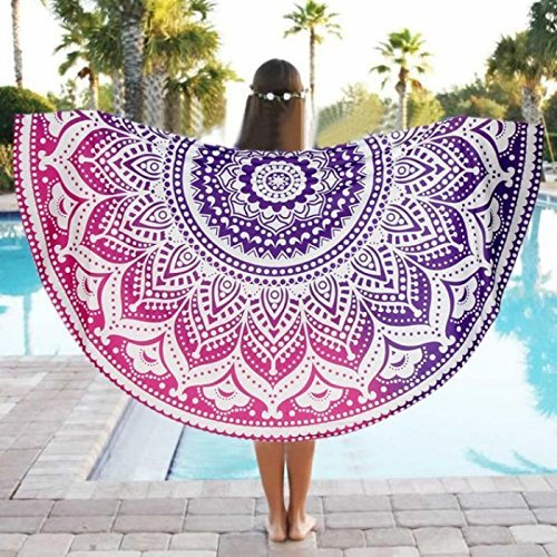 Mandala India Hippie Gypsy Home Decor Playa Manta Mandala Algodón Yoga Mat Picnic Mantas Mantel Mantel Playa Toalla 72inch