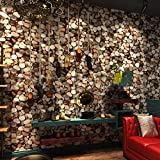 New 3d Retro Stones Wallpapers Pebbles Bars Cafe Restaurant Background Wallpape , red brown