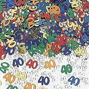 Gifts 4 All Occasions Limited SHATCHI-167 - Confeti para decoración de mesa (14 g, 40 unidades), diseño de confeti