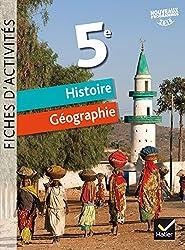 Histoire Géographie 5e : Fiches d'activités