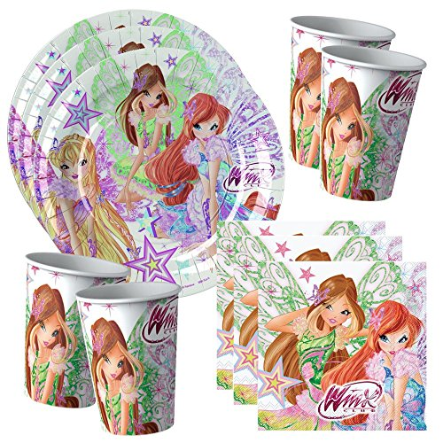 Winx-Club-Butterflix-Party-Set-Anniversaire-Dcorations-8x-Assiettes-8x-Gobelets-20x-Serviettes