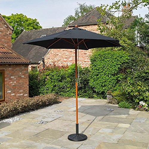 lz schwarz Garten Sonnenschirm ()