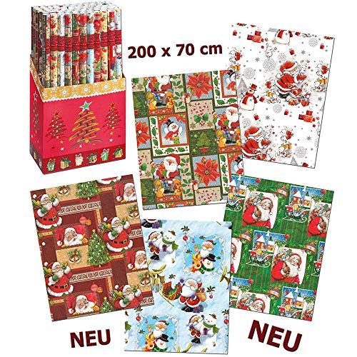 Unbekannt Sigro Hejo Kinder Weihnachten Geschenkpapier Rolle, Mehrfarbig, 2x 0,7m