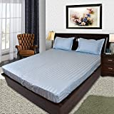 #10: Fitted Sheets by B-Sheets |100 % Cotton 400 TC Sateen Weave| Elastic Fitted Bed Sheet with Deep Pockets to fit 6