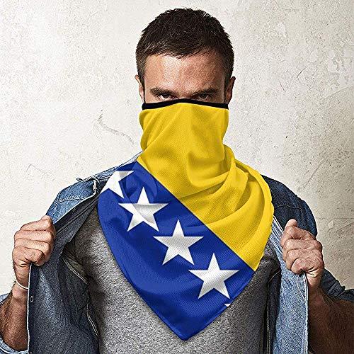 WCUTE Flagge von Bosnien und Herzegowina Magic Headwear Kopftuch Bandanas Motorrad Stirnbänder Outdoor Tube Schal Hals Gamaschen Kappen